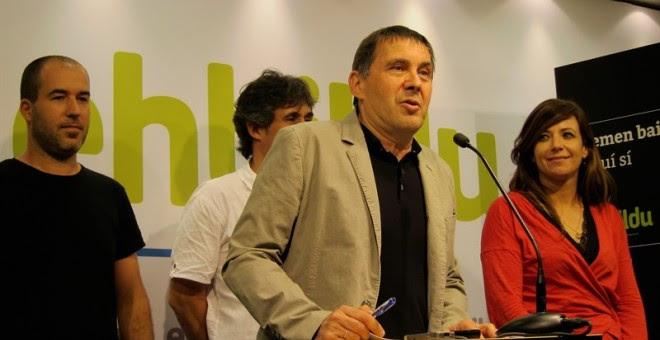 Bildu formaliza su pulso inscribiendo a Arnaldo Otegi como candidato a lehendakari. EUROPA PRESS