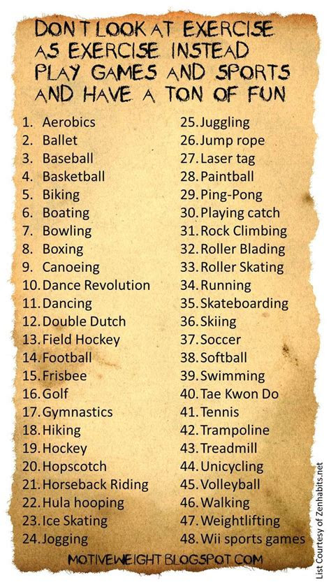 motiveweight  fun ways  exercise