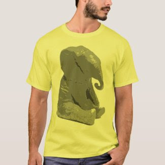 The elephant sat on the flea t-shirt