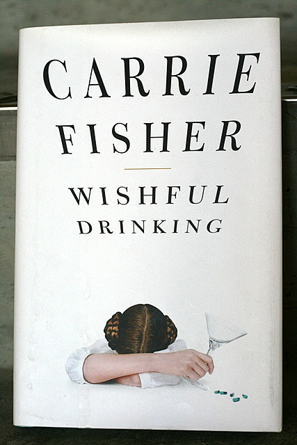 I love the cover of Wishful Drinking by Carrie Fisher