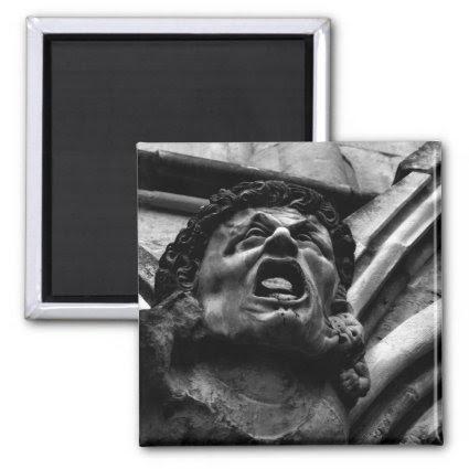 Agony of the Biting Imps Gothic Gargoyle Fridge Magnet