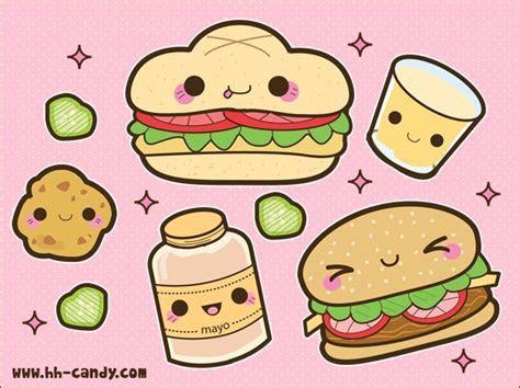 Kawaii food images Kawaii Hamburger stuff wallpaper and