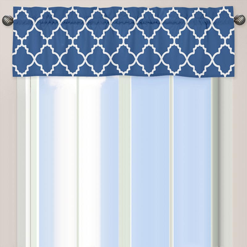 Antique Blue Windows Jojo Designs Trellis Blue And White Window