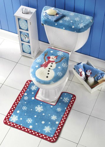 Snowman Toilet Seat Cover And Rug Set By Collections Etc