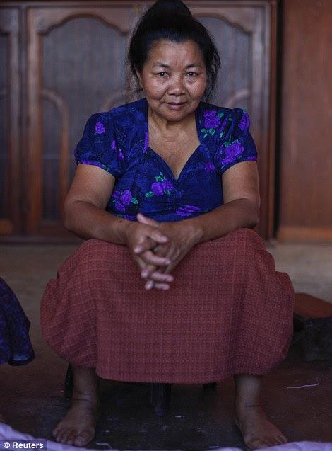 Tlungi, 65 anos, a quarta esposa de Ziona