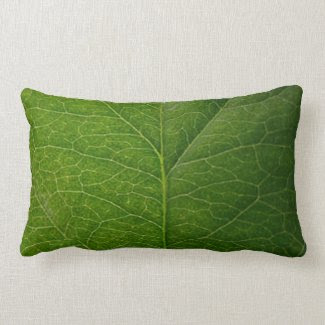 Green Leaf Throw Pillows