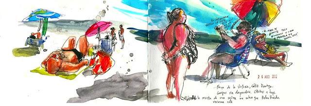 Playa de Cadiz. La victoria. Verano 2012