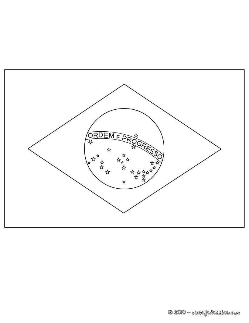Coloriage du drapeau du BRESIL