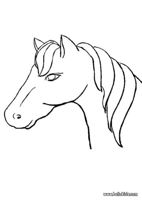 horse head coloring pages hellokidscom