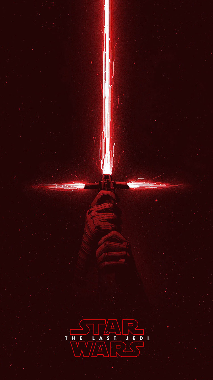 Iphone11papers Com Iphone11 Wallpaper Bd05 Starwars First Jedi Red Film Art Illustration