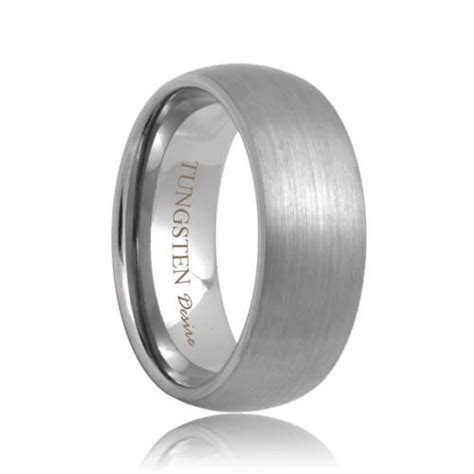 Minneapolis   Brushed Domed Durable Tungsten Wedding Ring