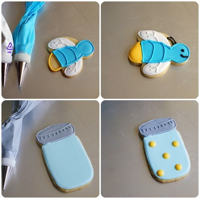 firefly and mason jar cookies ::: bake at 350