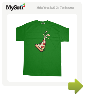 Spurting Pizza tee by humbuged. Available from MySoti.com.
