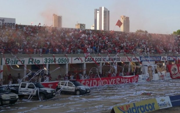 Torcida do Potiguar de Mossoró é a mais presente no Campeonato Potiguar (Foto: Marcelo Diaz/Divulgação)
