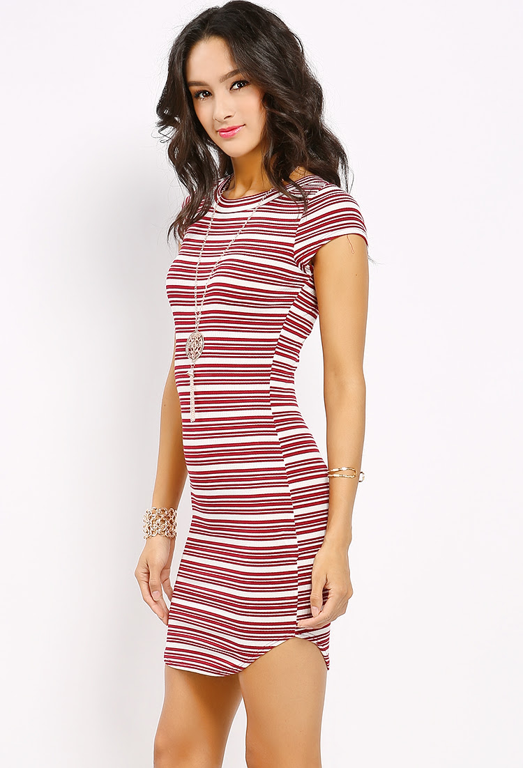 The striped bodycon dress outfit size stores