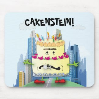 Cakenstein! Mousepad mousepad