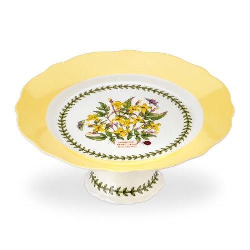 PORTMEIRION BOTANIC GARDEN TERRACE Scalloped edge footed cake plate medium