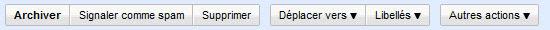 Les commandes de Gmail