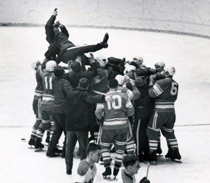1964 Soviet Union team celebrates photo 1964 Soviet celebration Tarasov.jpg