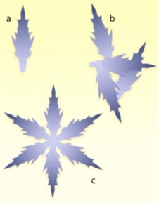 Figure 7: Some configurations of rays of snowflakes