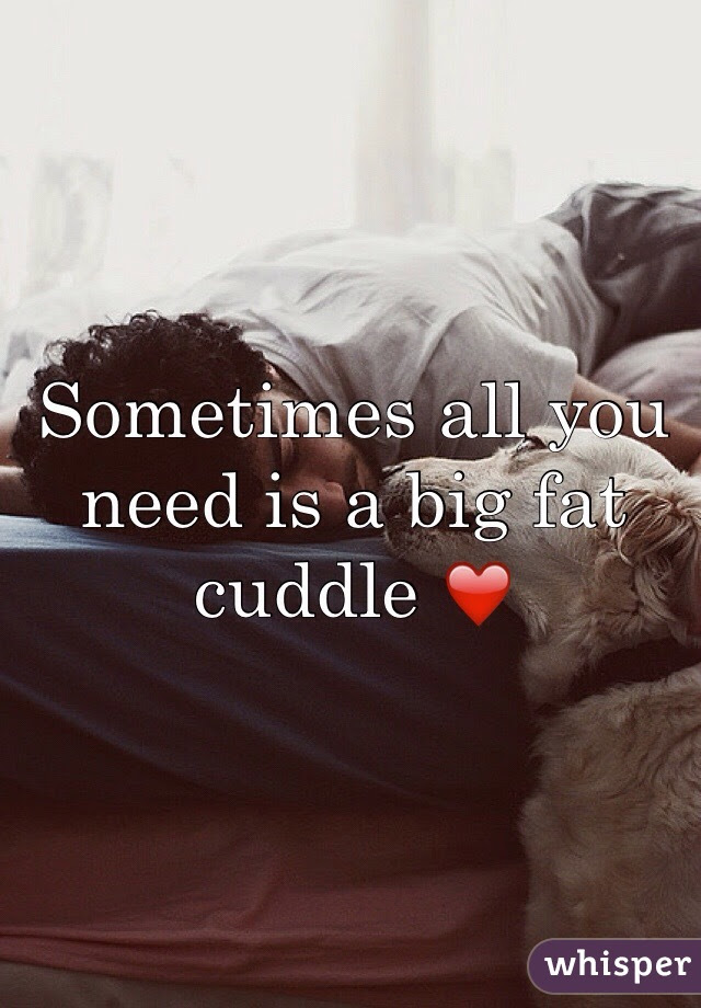 Sometimes All You Need Is A Big Fat Cuddle