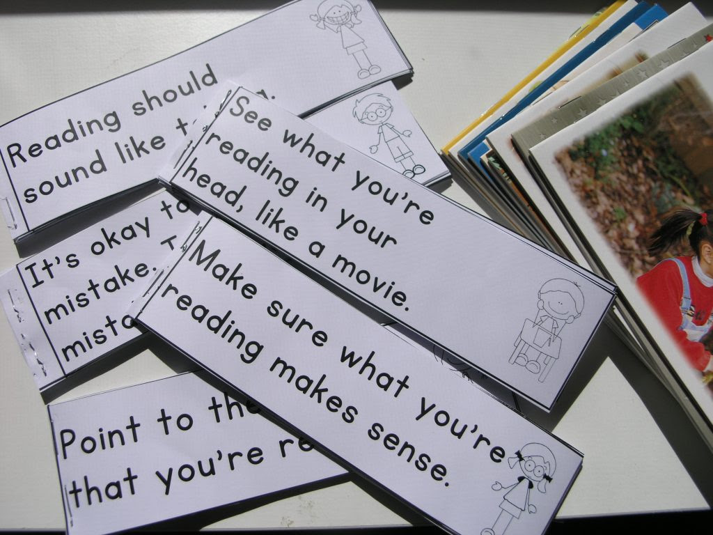 Guided reading reminder slips to help develop reading skills and strategies