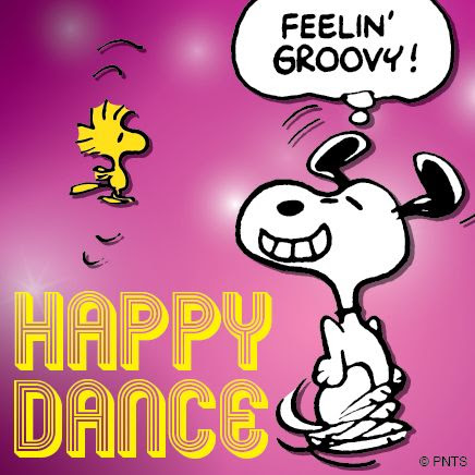 New Year's Happy Dance - Snoopy & Woodstock