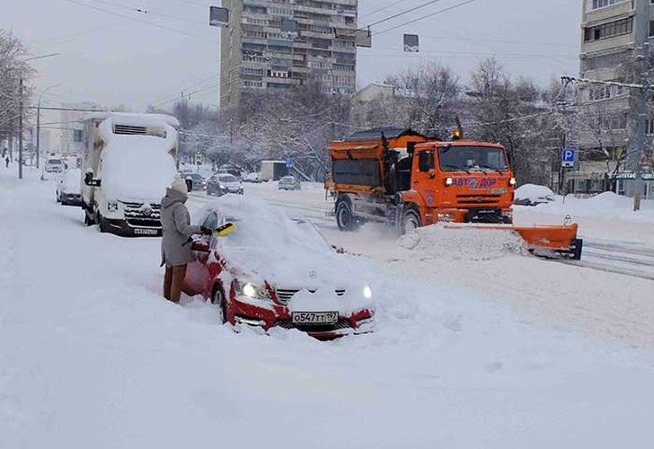 Resultado de imagen para Rusia: en Moscú, la nevada batió el récord de los últimos sesenta años