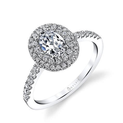 Claudia   Oval Shaped Double Halo Engagement Ring   Sylvie