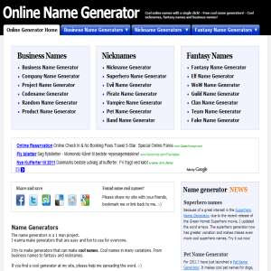 screen name generator for dating site