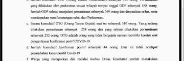 Press Release COVID-19 Tarakan 22 Mei 2020