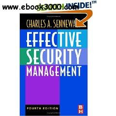 Effective Security Management Fourth Edition