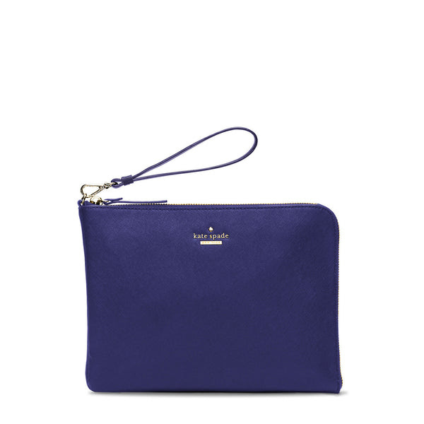 Quentin French Navy Wristlet Pouch