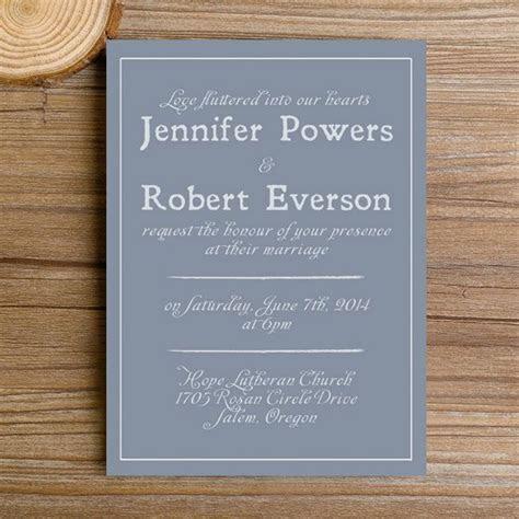 modern dusty blue simple wedding invitations EWI384 as low
