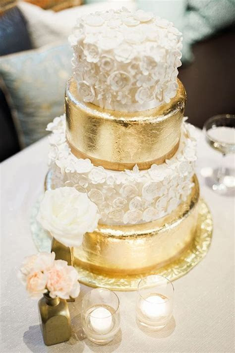 17 Best images about Metallic Wedding Cakes on Pinterest