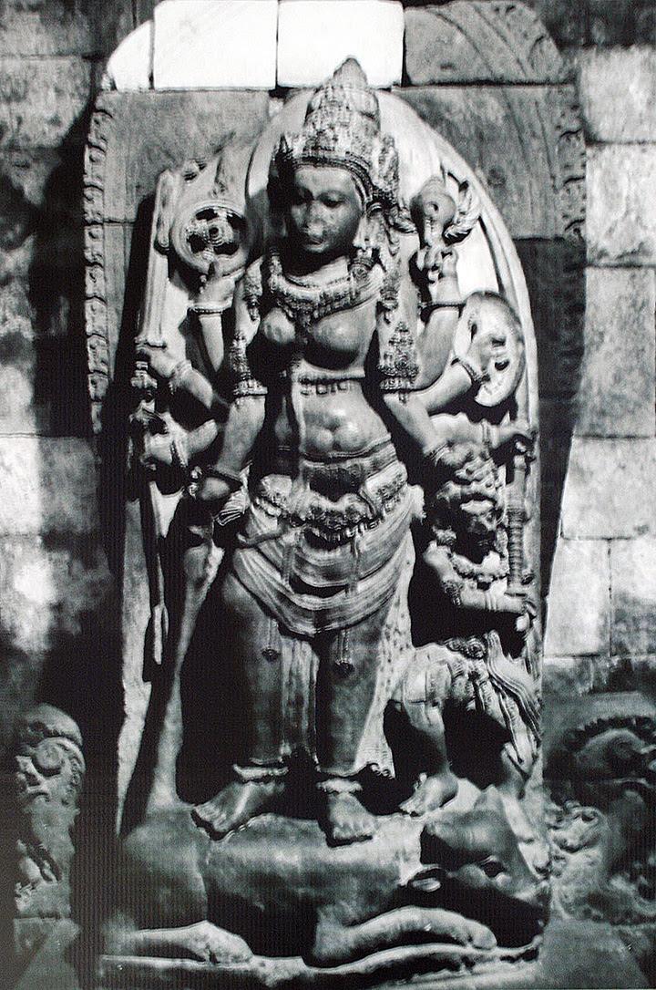 The statue of Durga