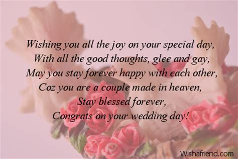 Wishing you all the joy on, Wedding Message