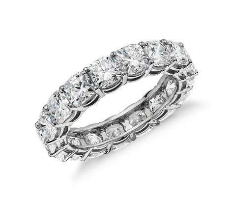 Cushion Cut Diamond Eternity Ring in Platinum (5 ct. tw