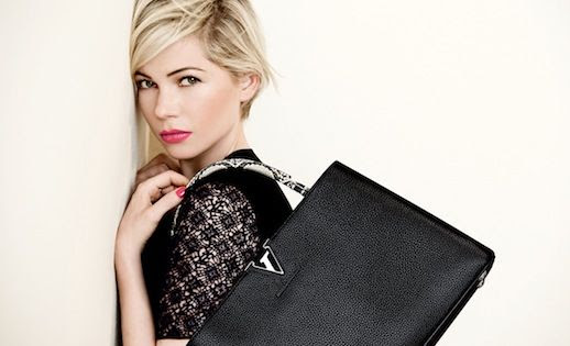 Le Fashion Blog Michelle Williams Louis Vuitton SS 2014 Campaign Crochet Black Tope Black Top Python Snakeskin Handle Bag Short Blonde Hair Haircut Photographer Beauty Pink Lipstick Peter Lindbergh 5 photo Le-Fashion-Blog-Michelle-Williams-Louis-Vuitton-SS-2014-Campaign-Crochet-Black-Bag-5.jpg