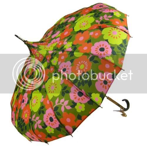 retro umbrella vintage spring flowers