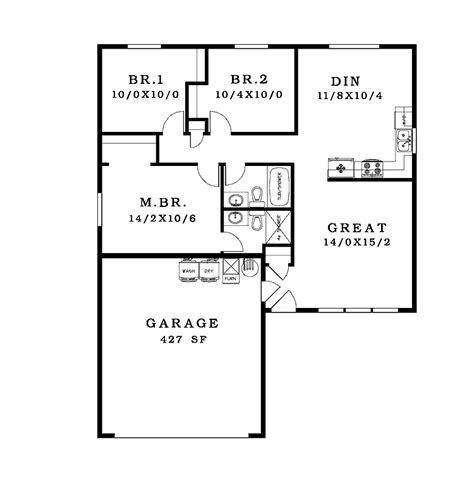 nice simple house plan  simple house floor plan