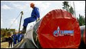 Laying a gas pipeline in Russia
