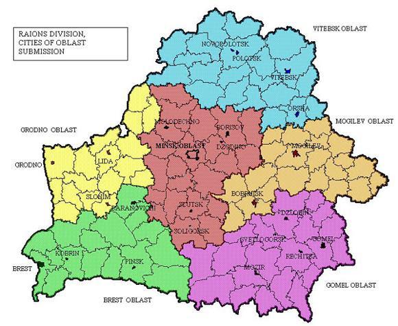 Maps of Belarus   Ma