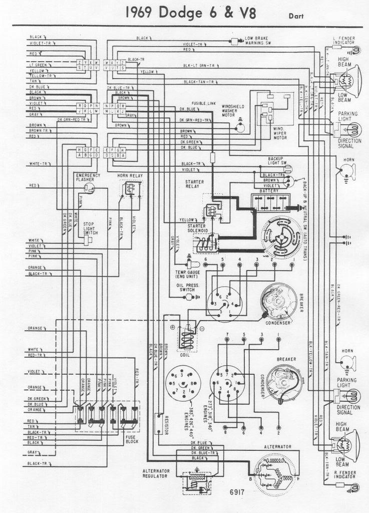Schéma électrique Dodge Dart 1969