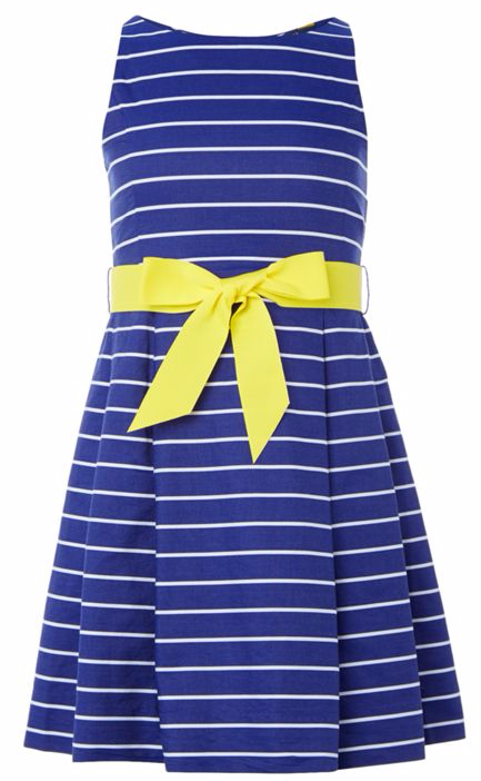 Polo Ralph Lauren Girls Sleeveless Dress With Striped Bow Waist at House of Fraser