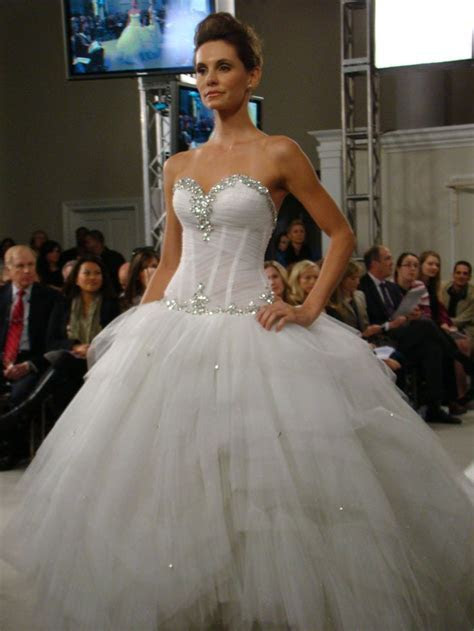 Pnina Tornai strapless ball gown with crystal embellished