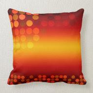 Modern Disco Sunset Big Cushion Pillow throwpillow