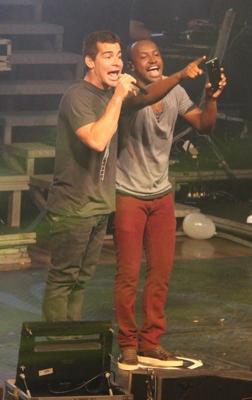 Thiaguinho e Thiago Martins (Foto: Renan Katayama / CDC Shows e Eventos)