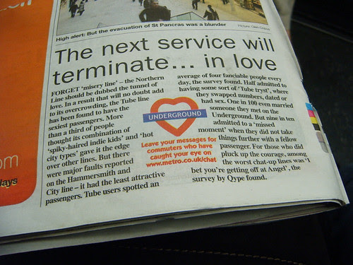 Love on the Tube Survey Results in Metro