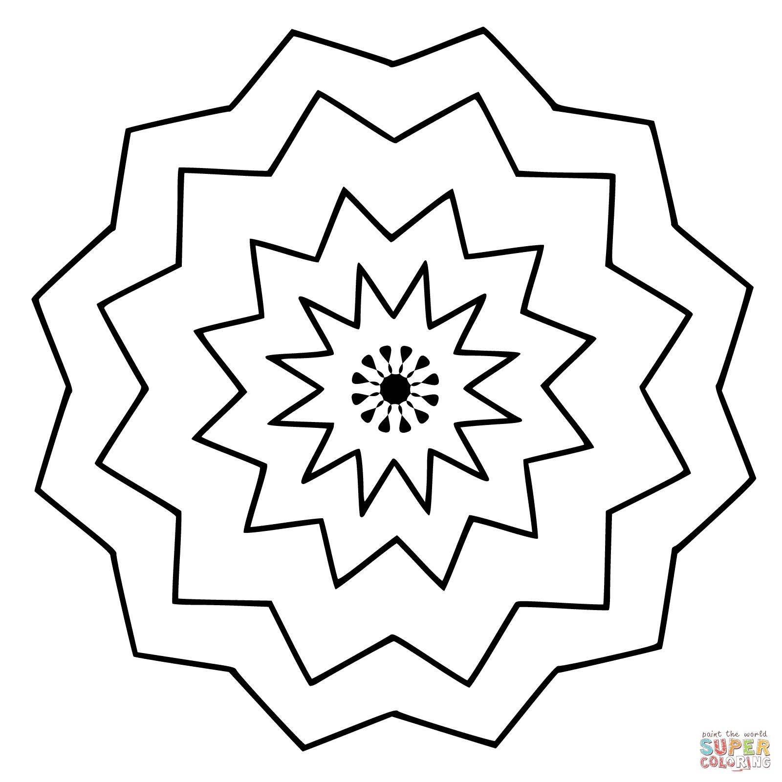 Klick das Bild Blumen Mandala